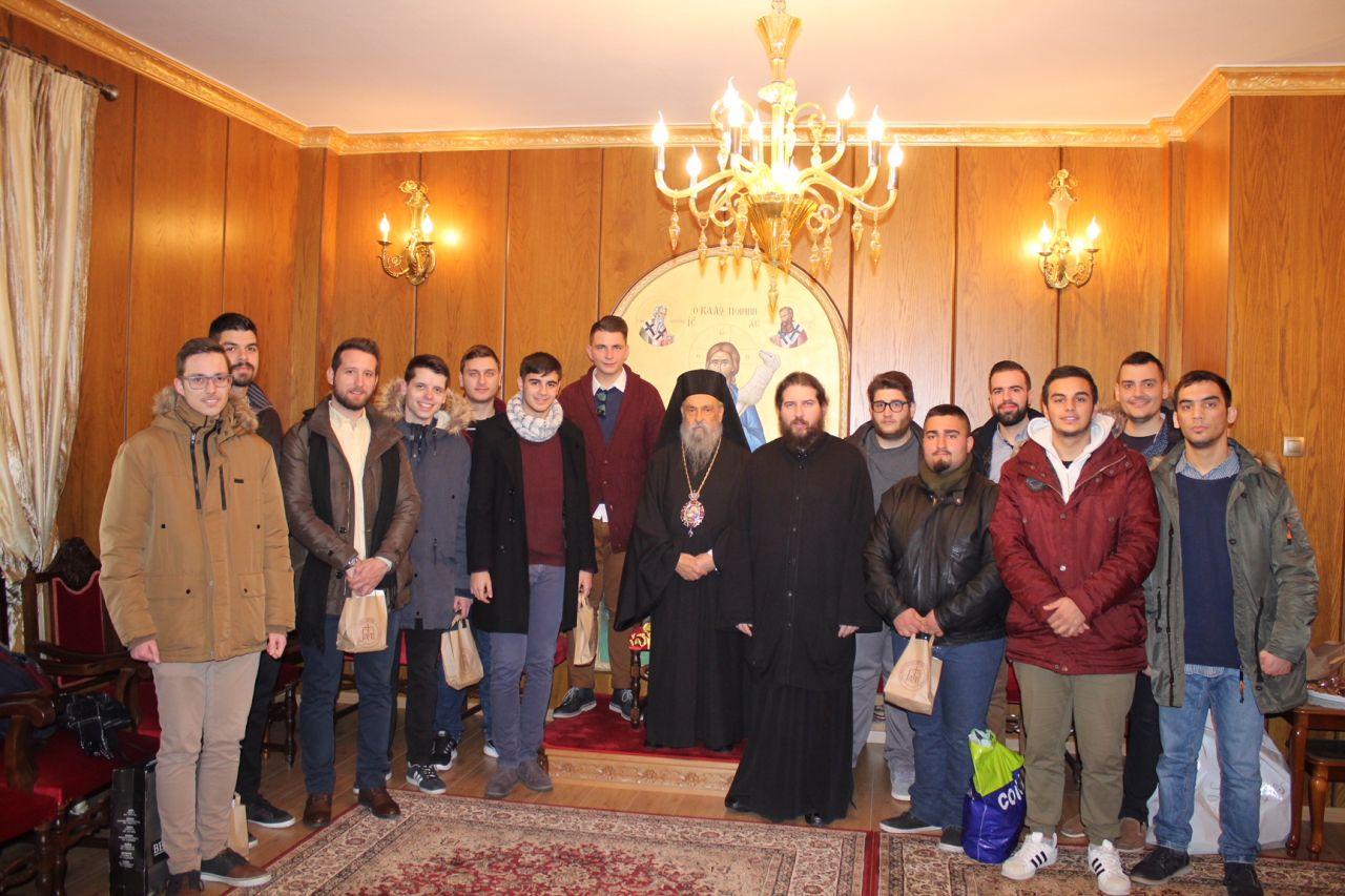 kalanta xmas 2017 2 - Έψαλλαν τα κάλαντα στον Σεβασμιώτατο Μητροπολίτη Λαρίσης & Τυρνάβου κ. Ιγνάτιο (Φώτο)