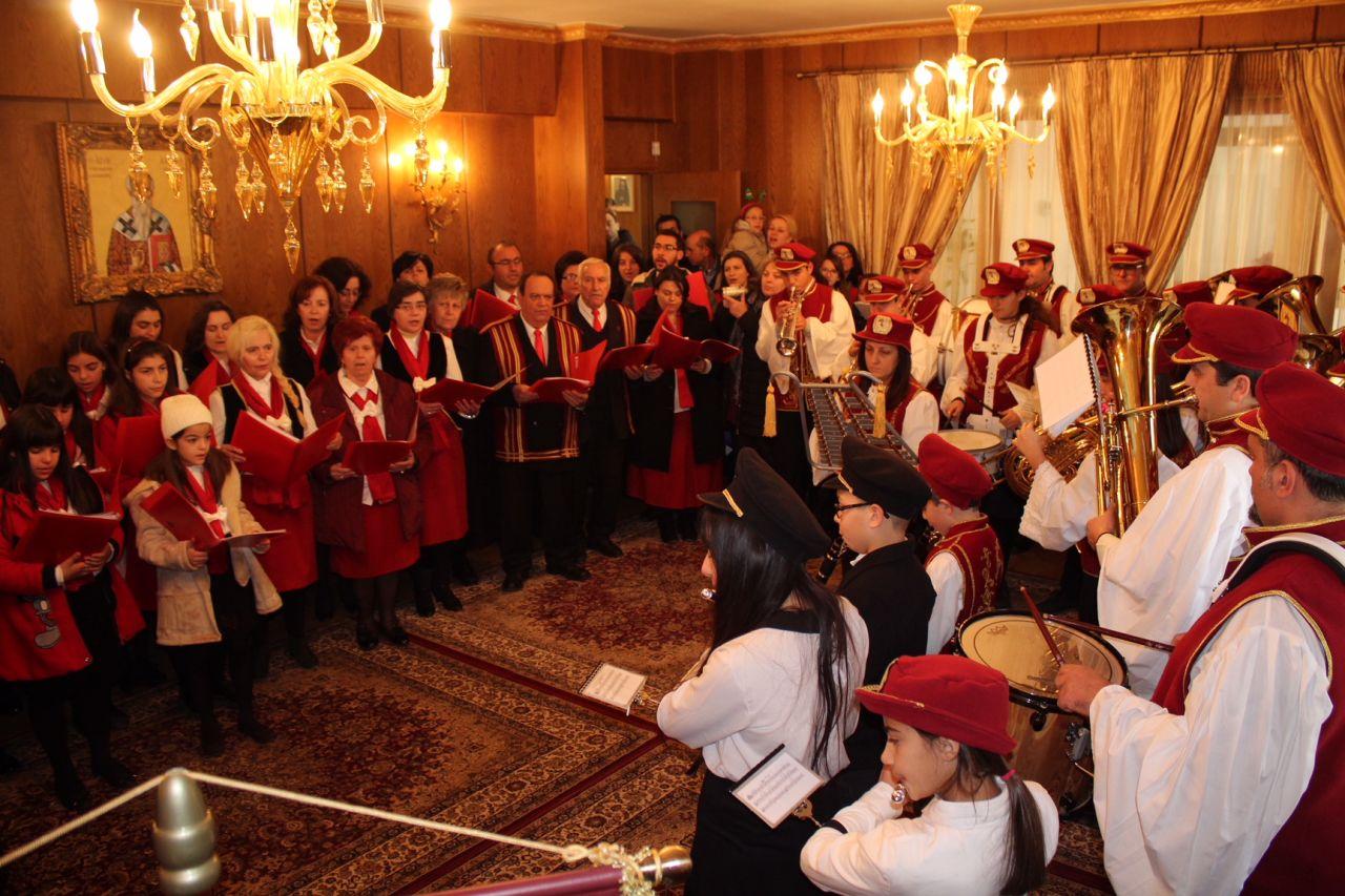 kalanta xmas 2017 5 - Έψαλλαν τα κάλαντα στον Σεβασμιώτατο Μητροπολίτη Λαρίσης & Τυρνάβου κ. Ιγνάτιο (Φώτο)