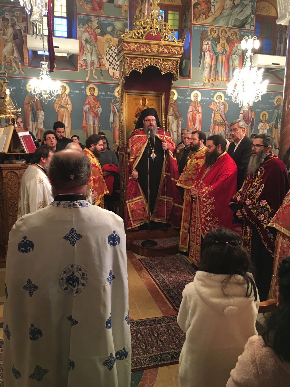 AgXaralampos Nikaia 2019 3 - Στον πανηγυρικό εσπερινό του Αγίου Χαραλάμπους Νικαίας ο Σεβασμιώτατος