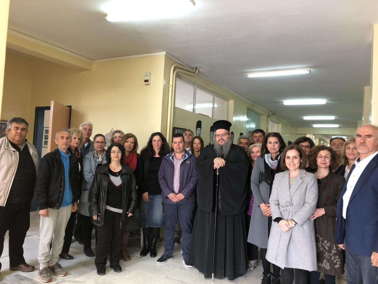 gymnasio ampelona 10 - Ο Σεβασμιώτατος επισκέφθηκε το Γυμνάσιο Αμπελώνα (φωτο)