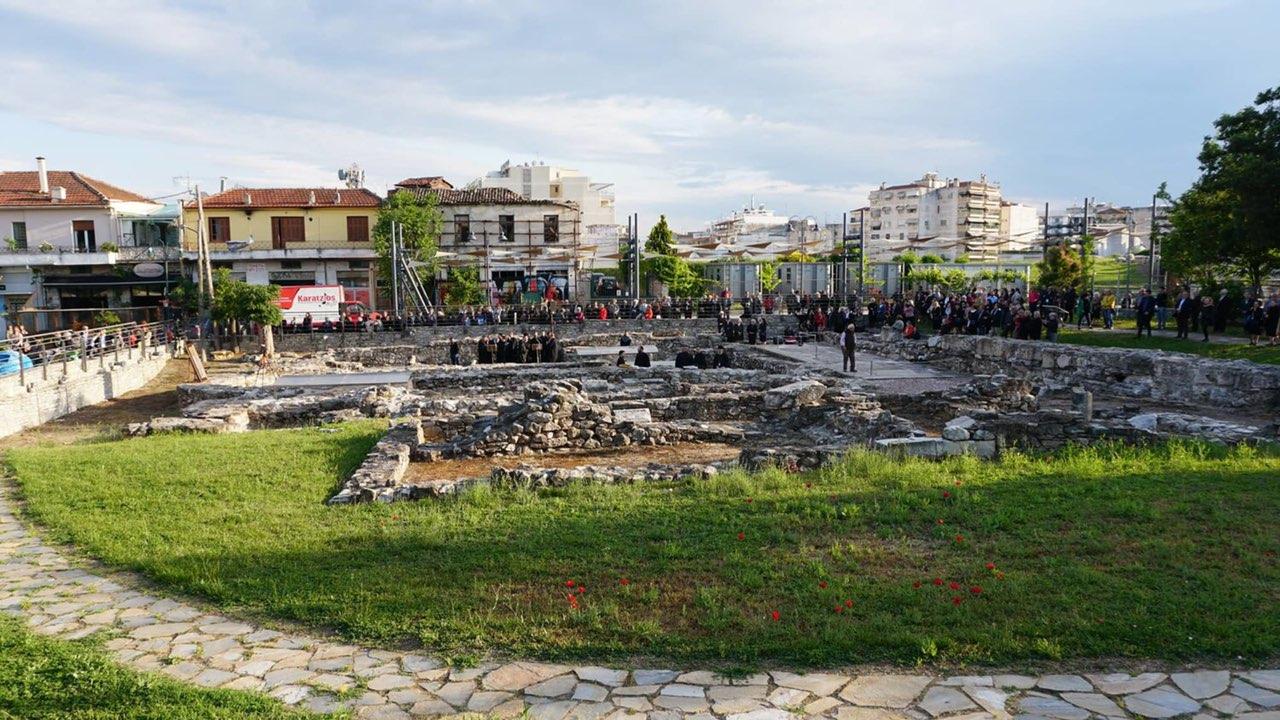 esp vasiliki AgAxilliou 6 - Ιστορικός Αρχιερατικός Εσπερινός στην Αρχαία Βασιλική του Αγίου Αχιλλίου