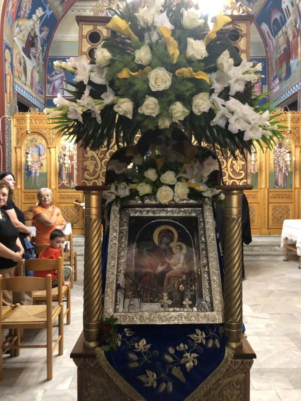 panagia gorgoypikoos2019 1 - Στον Αμπελώνα για την Παναγία τη Γοργοϋπήκοο ο Σεβασμιώτατος (φωτο)