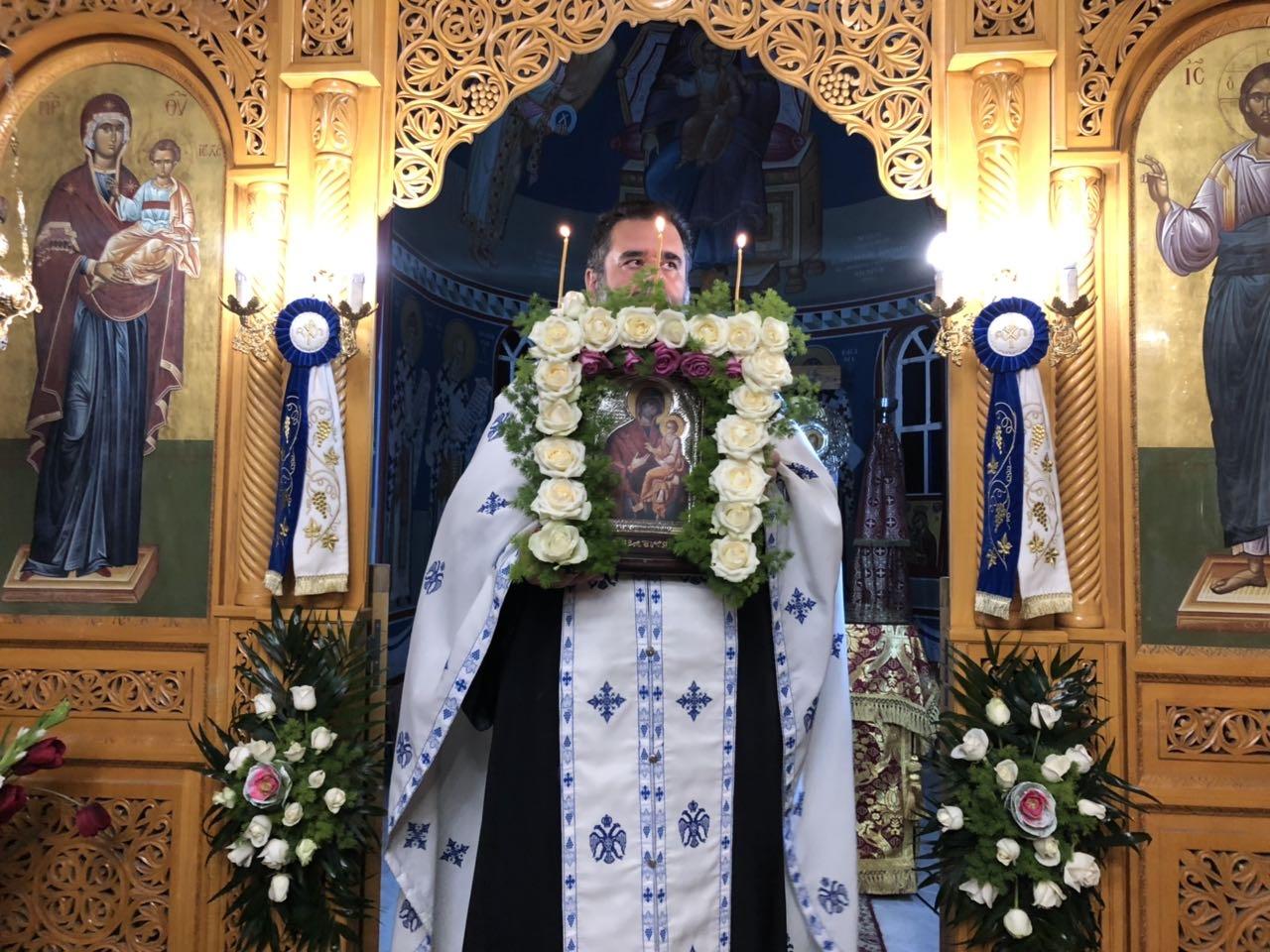 panagia gorgoypikoos2019 6 - Στον Αμπελώνα για την Παναγία τη Γοργοϋπήκοο ο Σεβασμιώτατος (φωτο)