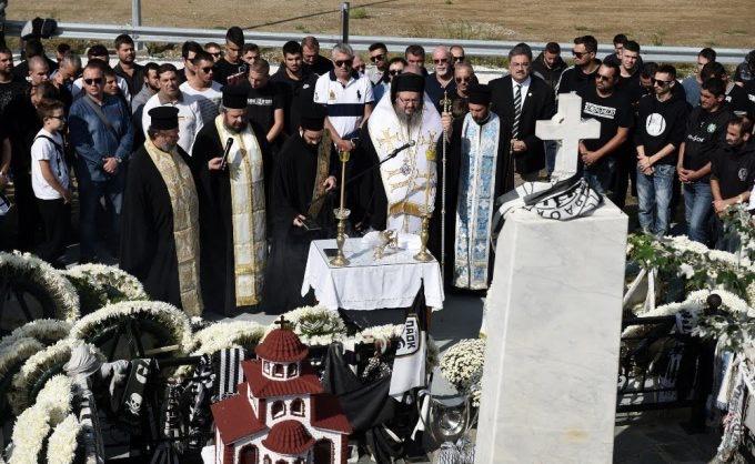 mnimosino paok 2 - Επιμνημόσυνη Δέηση στα Τέμπη για τους αδικοχαμένους φιλάθλους του ΠΑΟΚ