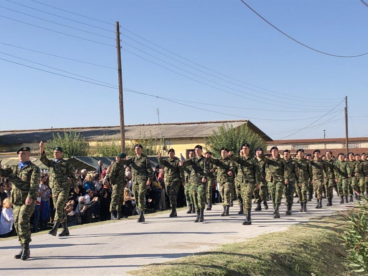 "orkomosia mpouga 4 - Στην ορκωμοσία νέων οπλιτών στο Στρατόπεδο ""Μπουγά"" ο Σεβασμιώτατος"