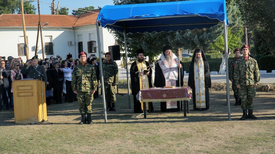 "orkomosia mpouga 7 - Στην ορκωμοσία νέων οπλιτών στο Στρατόπεδο ""Μπουγά"" ο Σεβασμιώτατος"