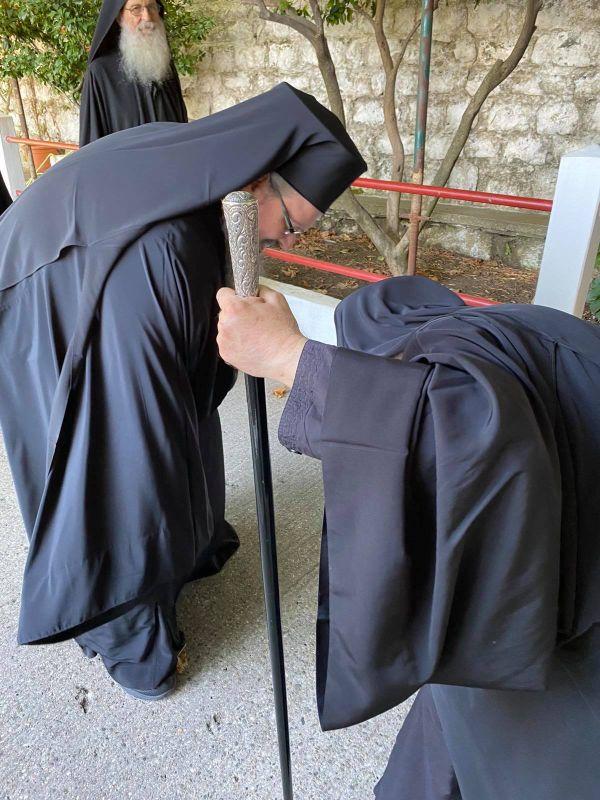 grigoriou 2020 3 - Στην Ιερά Μονή του Οσίου Γρηγορίου ο Ποιμενάρχης μας (φωτ)