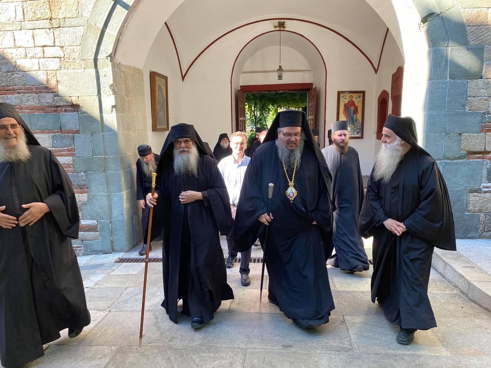 grigoriou 2020 4 - Στην Ιερά Μονή του Οσίου Γρηγορίου ο Ποιμενάρχης μας (φωτ)
