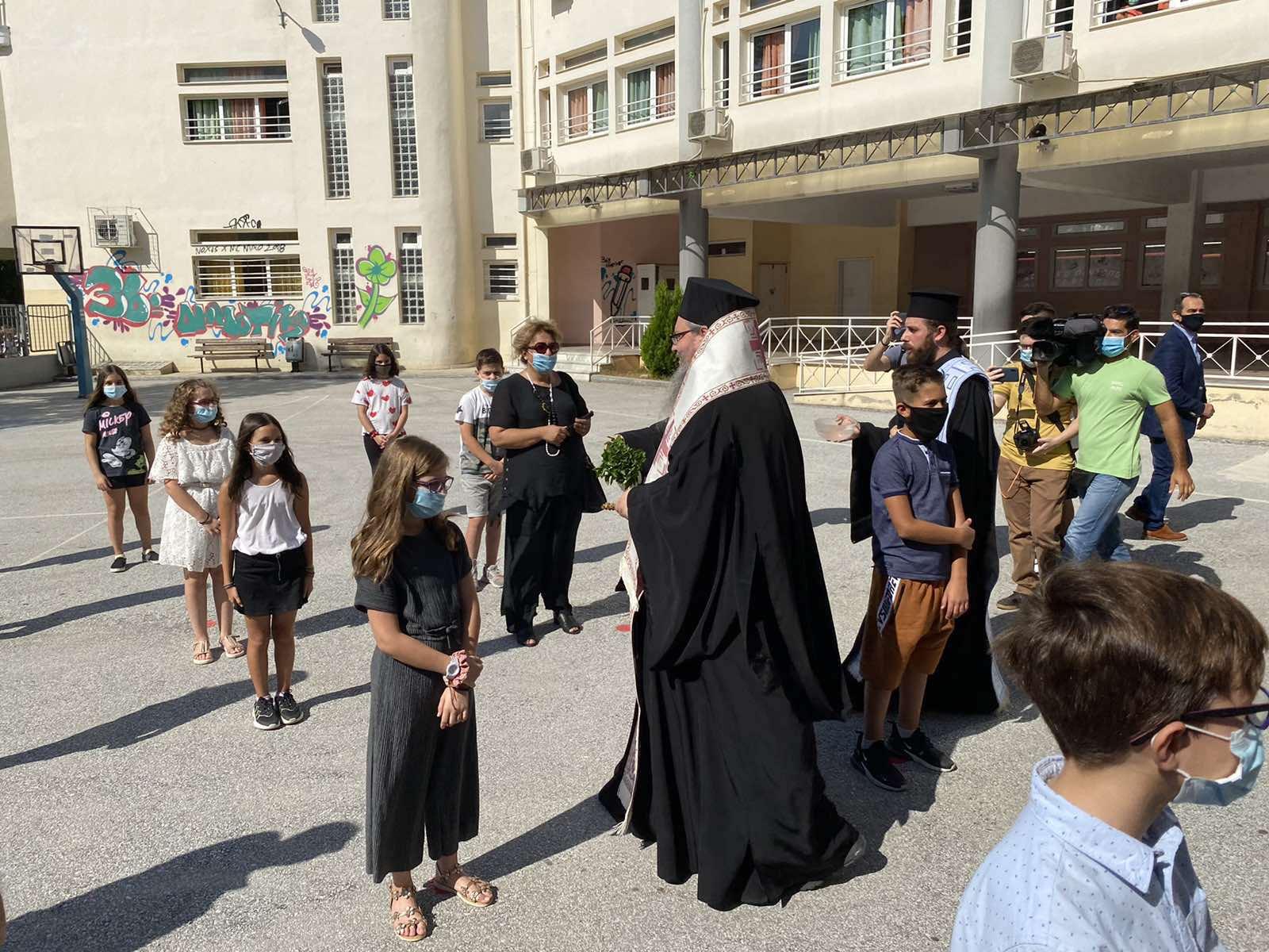 Agiasmoi 2020 5 - Αγιασμούς σε Σχολικές Μονάδες τέλεσε ο Σεβασμιώτατος