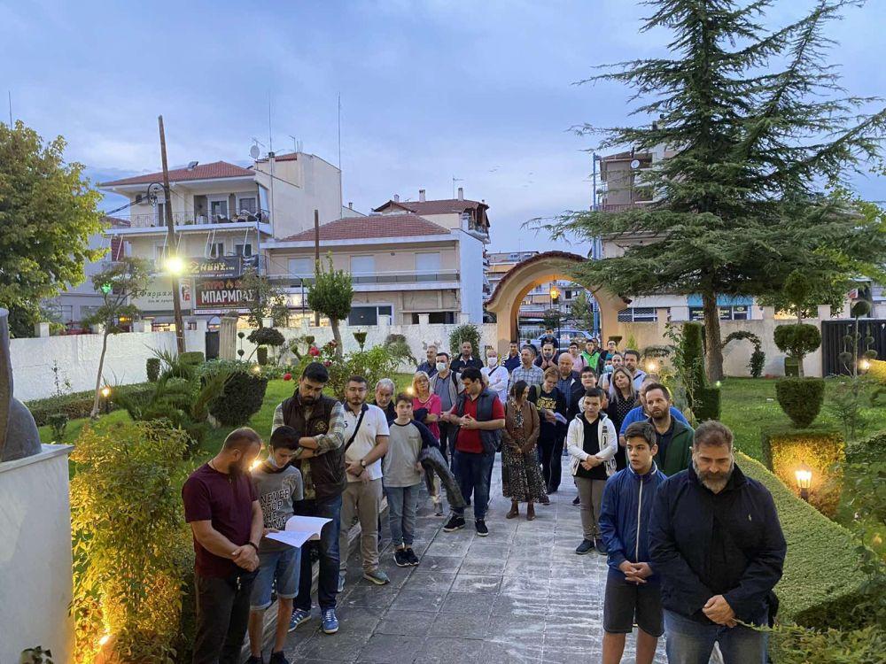 agiosmos sbm 4 - Αγιασμός στη Σχολή Βυζαντινής Μουσικής της Ι.Μ. Λαρίσης και Τυρνάβου