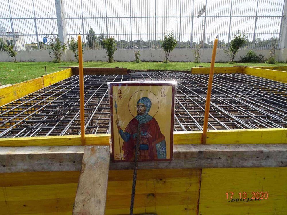 themeliosi AgLogginou 3 - Θεμέλιο λίθο στο Παρεκκλήσιο του Αγίου Λογγίνου (φωτο)