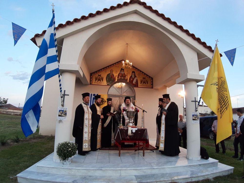thiranoixia AgLouka Ampelonas 3 - Θυρανοίξια Ι.Ν. Αγίου Λουκά Αρχιεπισκόπου Κριμαίας και Συμφερουπόλεως στον Αμπελώνα (φωτο)