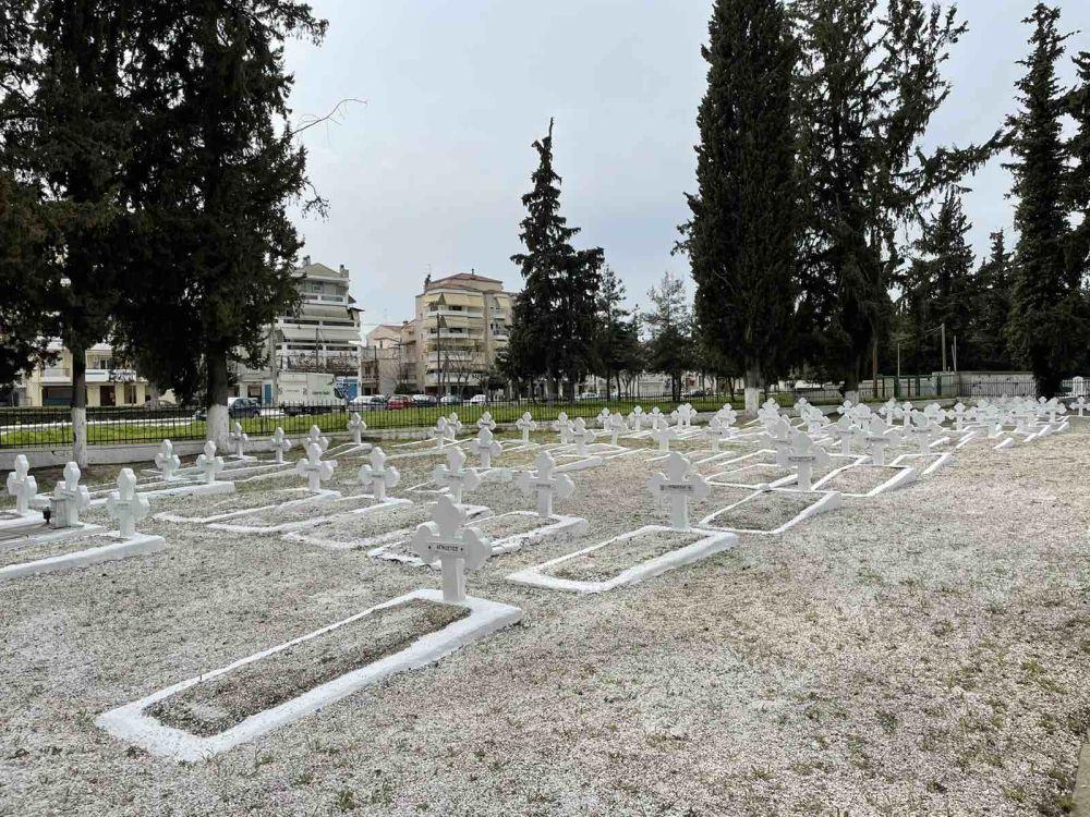psixosavvato strkoimitirio 2021 1 - Λάρισα: Τρισάγιο στο στρατιωτικό Κοιμητήριο