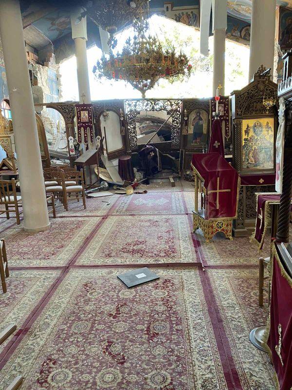 seismos koutsoxero 2021 14 - Μεγάλες καταστροφές σε εκκλησίες (φωτο)