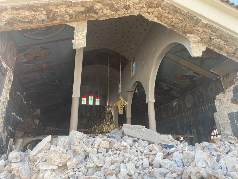 seismos koutsoxero 2021 2 - Μεγάλες καταστροφές σε εκκλησίες (φωτο)