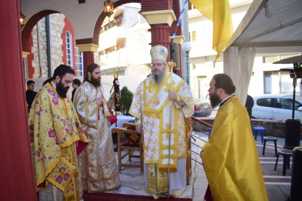 Ι.Μ. Λαρίσης : Κυριακή της Δ΄ Νηστειών στον πληγωμένο Άγιο Γεώργιο Τυρνάβου