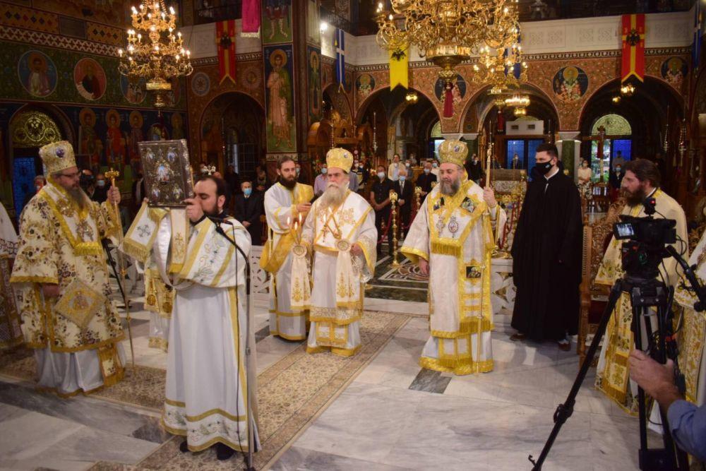 AgAxilliou 2021 10 - Με λαμπρότητα εορτάστηκε ο Άγιος Αχίλλιος, Αρχιεπίσκοπος Λαρίσης