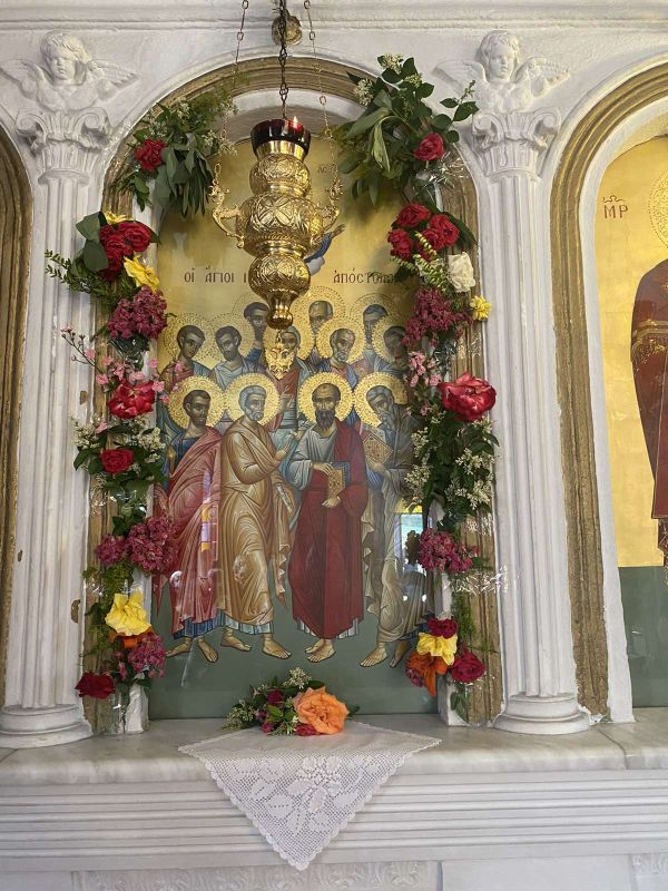 esp apostolwn kallipeuki 2021 1 - Ο Σεβασμιώτατος στον Ι.Ν των Αγίων Δώδεκα Αποστόλων Καλλιπεύκης