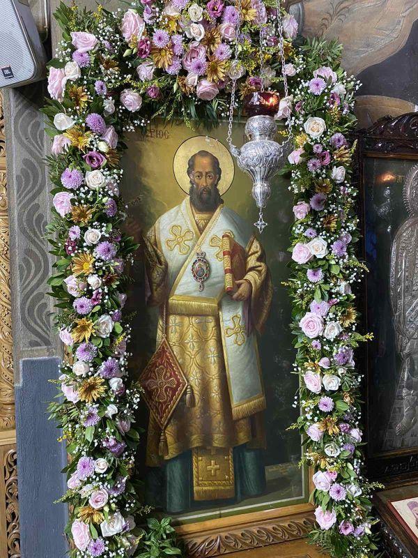 esp AgVissariona 2021 1 - Ο Πανηγυρικός Εσπερινός Του Αγίου Βησσαρίωνα Στη Λάρισα
