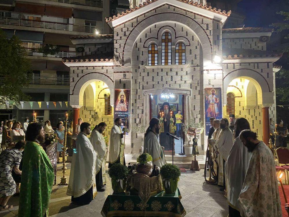 esp AgVissariona 2021 7 - Ο Πανηγυρικός Εσπερινός Του Αγίου Βησσαρίωνα Στη Λάρισα